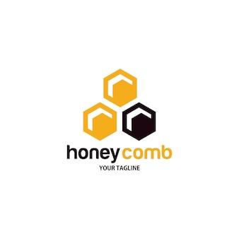 Logo en nid d'abeille