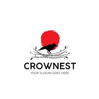 Logo de nid de corbeau