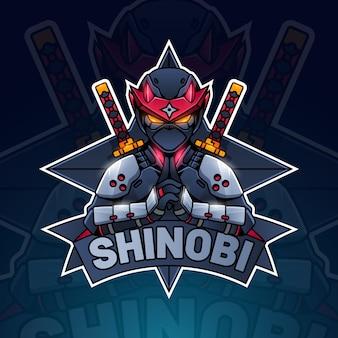 Logo ninja coloré détaillé