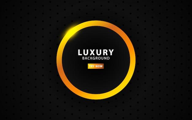 Logo noir de luxe, ligne moderne dorée et noire
