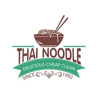 Logo noodle thai semple