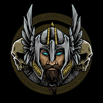 Logo nordique viking