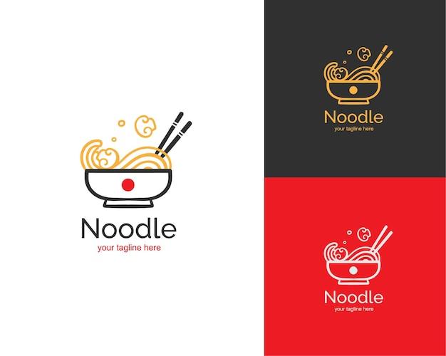 Logo de nouilles ramen aux champignons