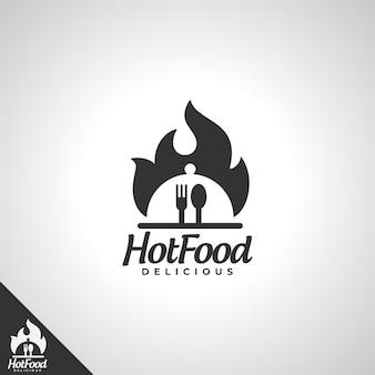 Logo de nourriture chaude
