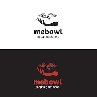 Logo de nourriture de nouilles