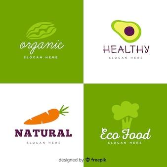 Logo de nourriture saine dessiné à la main