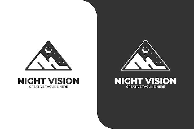 Logo de nuit de camping