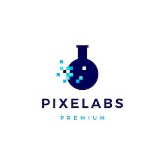 Logo numérique de pixel labs