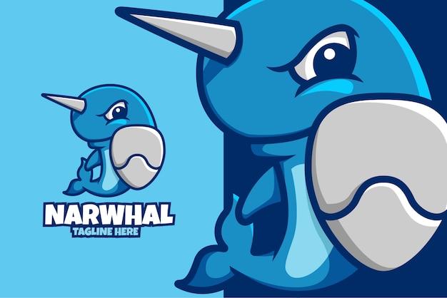 Logo de l'océan conceptuel illustration dessin animé narval