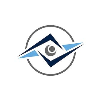 Logo de l'oeil abstrait