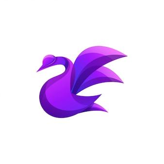 Logo d'oie de couleur moderne