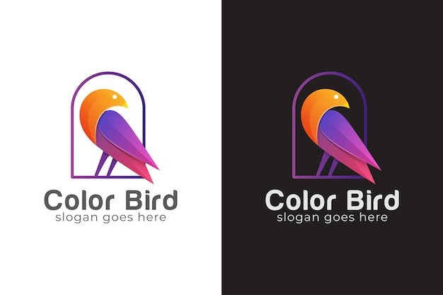 Logo oiseau abstrait, colombe, symbole animal de beauté