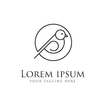 Logo oiseau abstrait isolé sur blanc