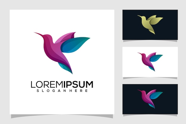 Logo oiseau abstrait