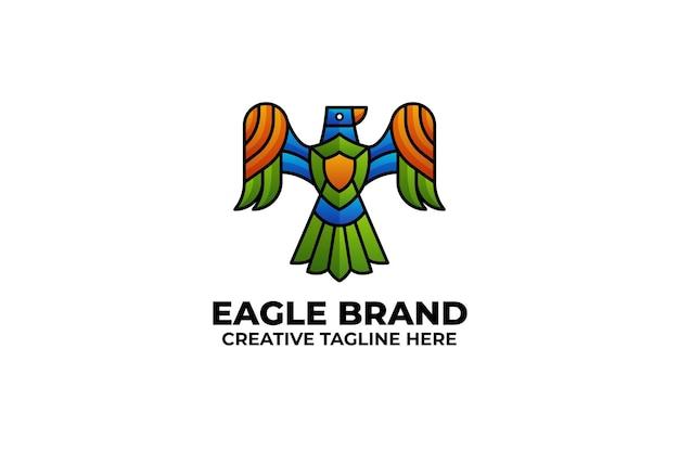 Logo d'oiseau aigle coloré