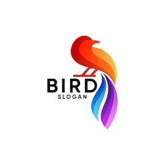 Logo d'oiseau coloré