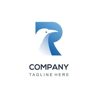 Logo oiseau corbeau