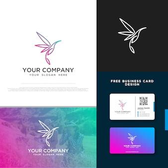 Logo oiseau avec design de carte de visite gratuit