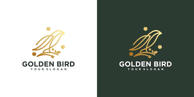 Logo d'oiseau avec dessin au trait, logo de référence