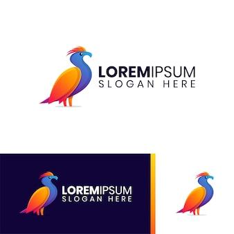 Logo d'oiseau de feu coloré