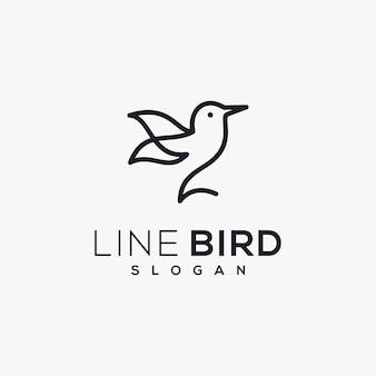 Logo d'oiseau de ligne