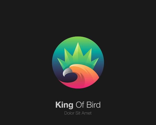 Logo de l'oiseau. logo d'icône de roi d'oiseau