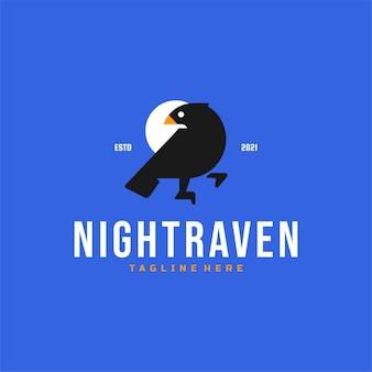 Logo d'oiseau raven