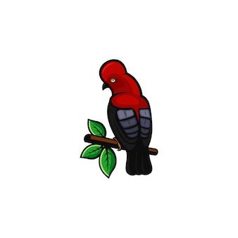 Logo oiseau rouge