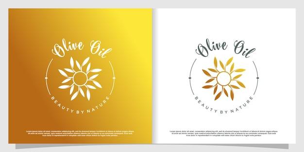 Logo olive avec élément créatif moderne vecteur premium partie 2