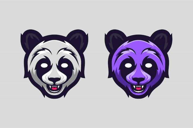 Logo option couleur mascotte panda