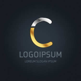 C logo or et d'argent