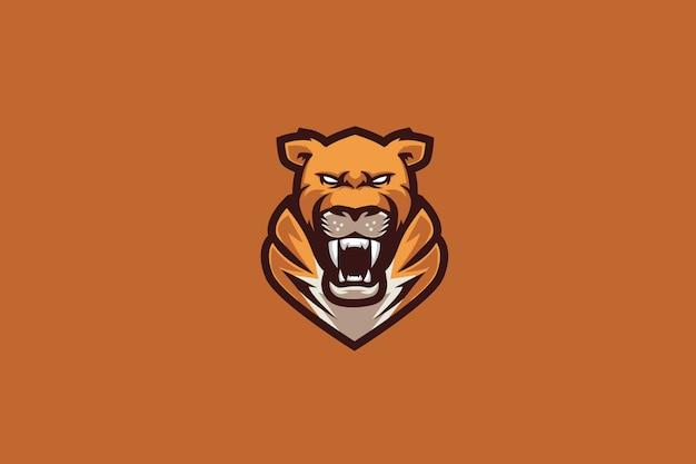 Logo orange tiger e sports