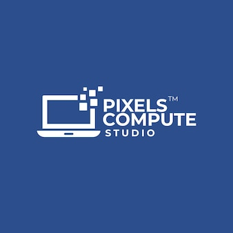 Logo d'ordinateur de pixel
