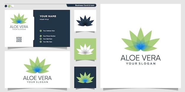 Logo organique avec un concept abstrait moderne vecteur premium