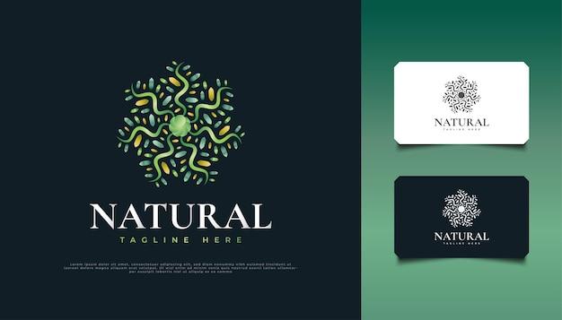 Logo d'ornement de fleurs et de feuilles colorées, adapté à l'identité de produit spa, beauté, complexe ou cosmétique logo de mandala coloré