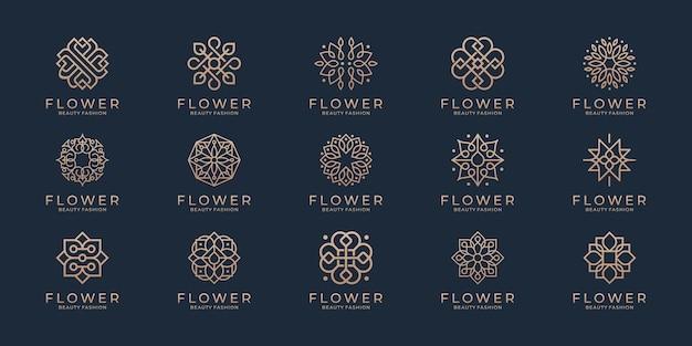 Logo d'ornement floral