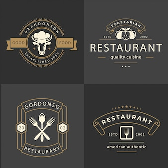Logo d'ornement de restaurant