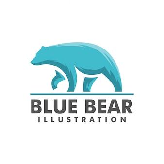 Logo ours bleu