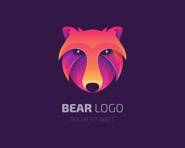 Logo ours coloré