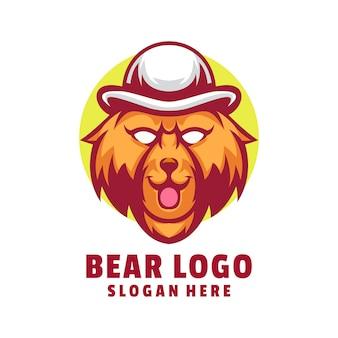 Logo d'ours mignon