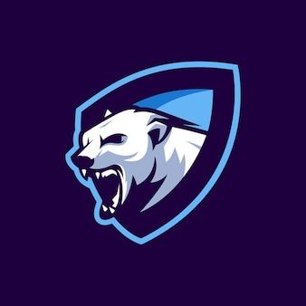 Logo d'ours en vecteur pour l'équipe