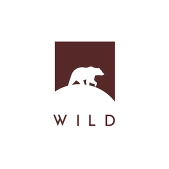 Logo d'ours vectoriel