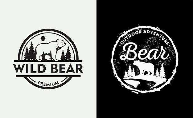 Logo de l'ours vintage