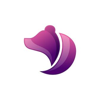 Logo de l'ours violet
