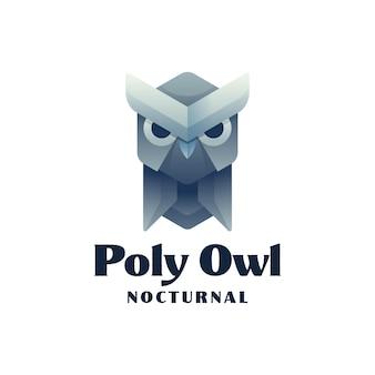 Logo owl gradient style coloré.