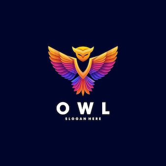 Logo owl gradient