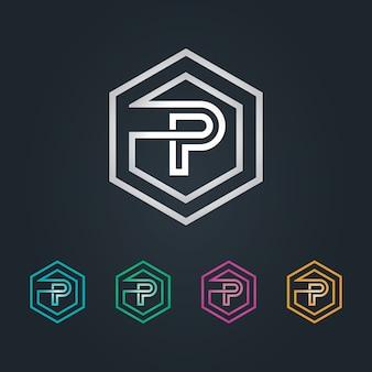 Logo p hexagone