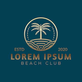 Logo de palmier de luxe