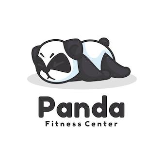 Logo panda mascot cartoon style.
