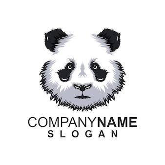 Logo panda avec slogan